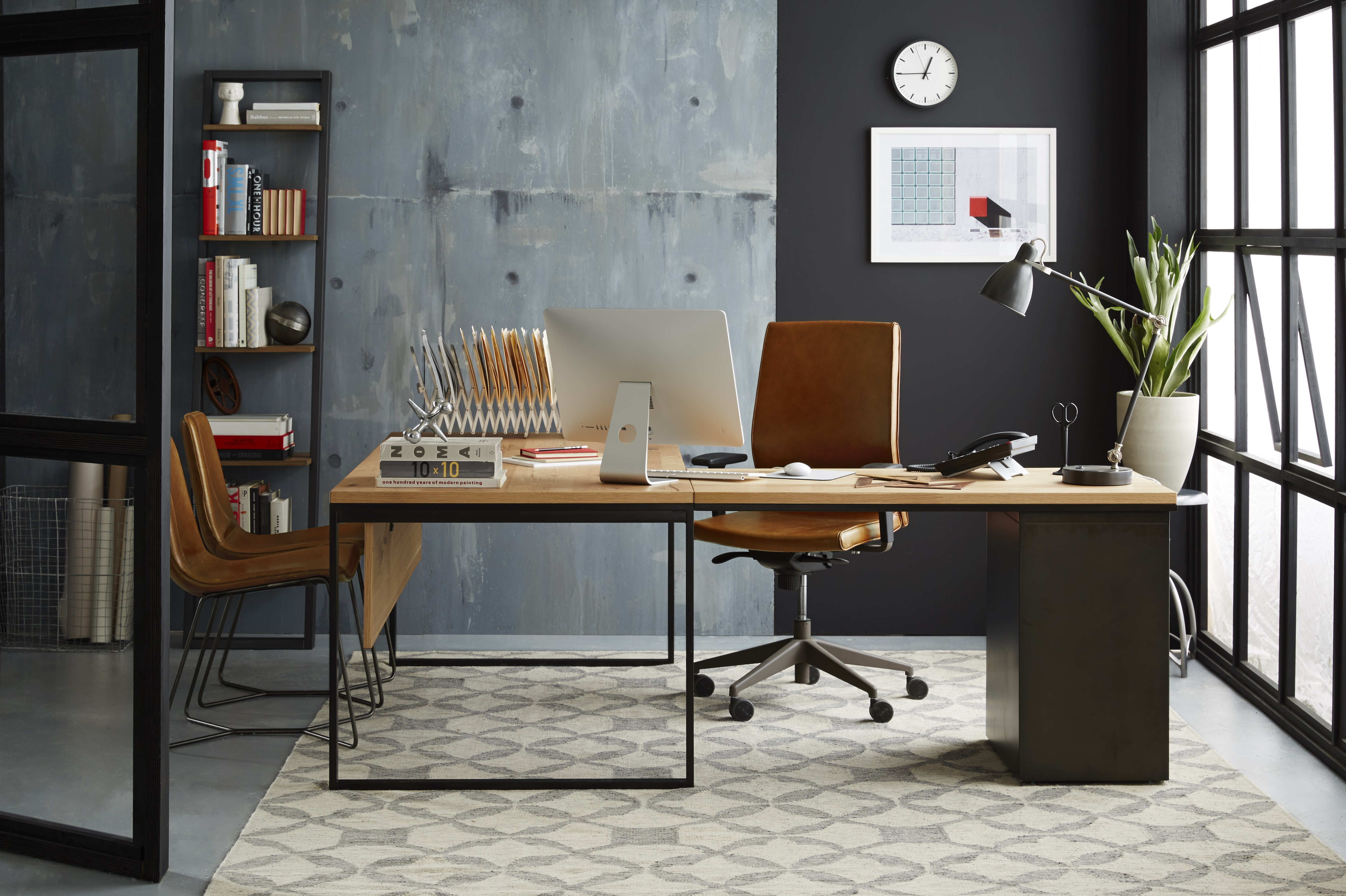 sale at idea industrial iron plush sensational for you desks and wayfair love desk ll leather pamono oak